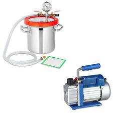 Vakuumpumpe Unterdruckpumpe Vakuumkammer Edelstahl Entgasungskammer Vakuum Set