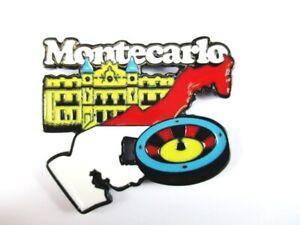Magnet Monte Carlo Gambling Casino Metal, Souvenir France, New