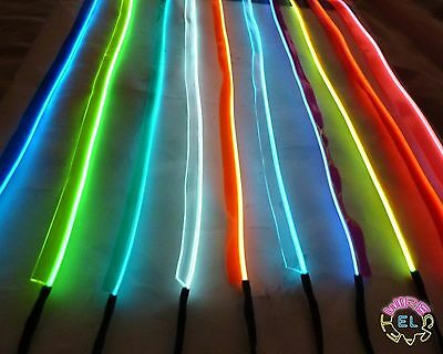 Sewable EL Wire - 50cm of Tron Glow Wire + Easy Sew Tag Strip