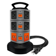 Surge Protector Power Strip with 10 outlets 4 USB Ports 6 ft Cord Wire Extension