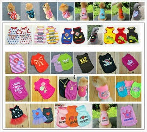 New-Cute-Summer-Various-Pet-Puppy-Small-Dog-Cat-Pet-Clothes-Vest-T-Shirt-Apparel