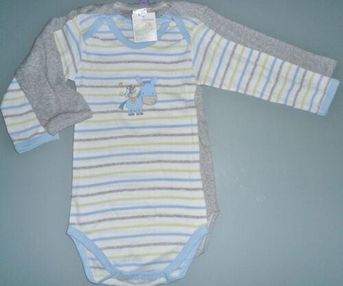 2 Stück weicher Baby Body Langarm Baumwolle Gr 62 68 74 80 86 92 98 104