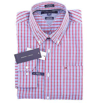 Tommy Hilfiger Men Long Sleeve Custom Fit Button Down Plaid Shirt - $0 Ship