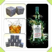 Whisky Ice Stones Drinks Cooler Cubes Whiskey Scotch Rocks Granite & Pouch