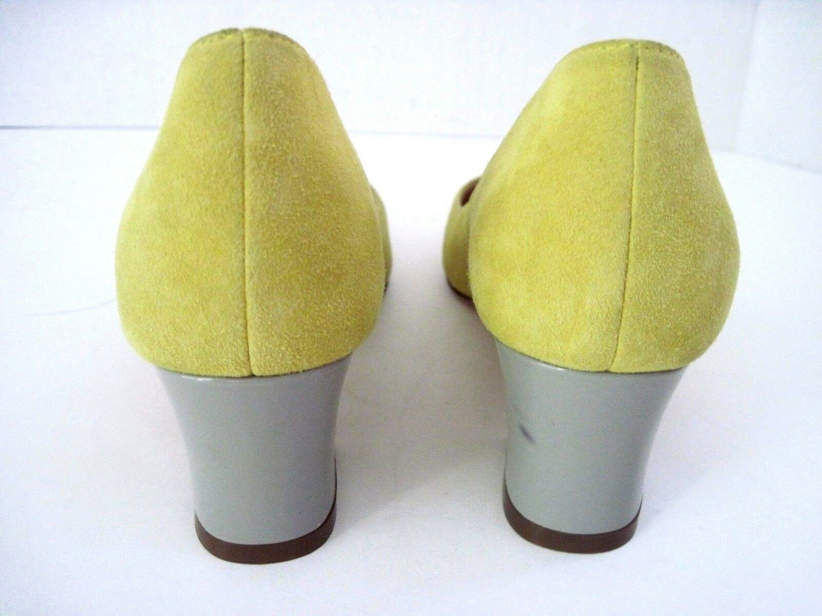 COLE HAAN Classic Patent Chartreuse Suede Pumps Gray Patent Classic Heels Größe 6 B b1403a