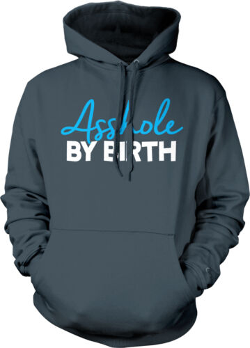 A**hole By Birth Rude Offensive Bold Funny Humor Brash Hoodie Pullover