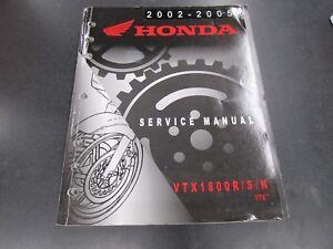 2002 - 2005  Honda VTX1800 Service Shop Manual Repair Book VTX 1800 R/S/N