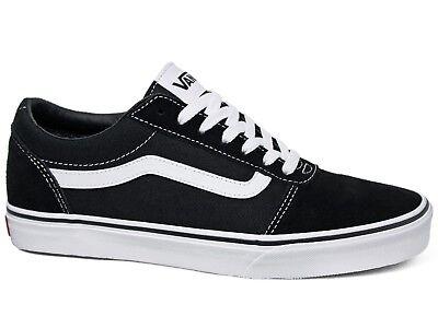 Vans Ward Low Suede Canvas Damen Sneakers Black White Schwarz Weiß VN0A3IUNIJU1   eBay