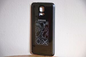 new concept 03ddb 22fcc Details about Samsung Galaxy S5 OEM Wireless Charging Battery Cover (Black)  - Free Shipping
