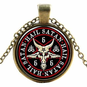 Gothic-Church-of-Satan-Inverted-Symbol-Necklace-Pendant-Satanism-Goat-Devil