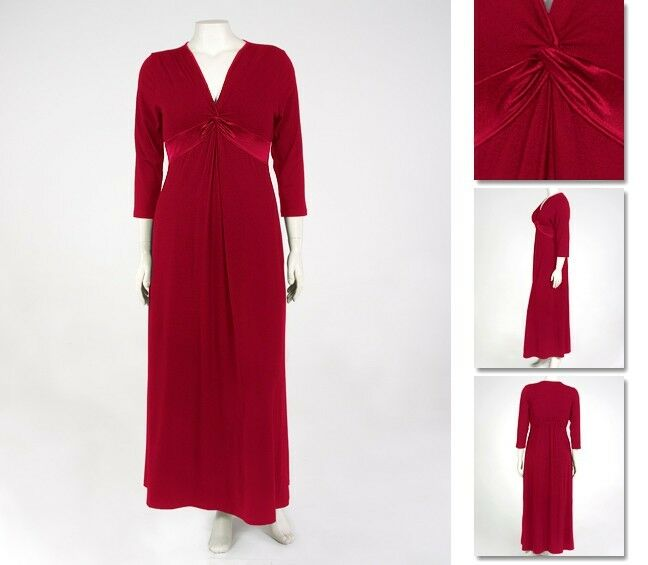 NEW   Zaftique SATIN KNOT DRESS Garnet Red 2Z 3Z   20 24   2X 3X