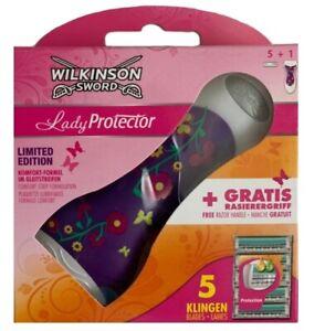 1-Wilkinson-Sword-Lady-Protector-Rasierer-5-Rasierklingen-LIMITID-EDITION-Aloe