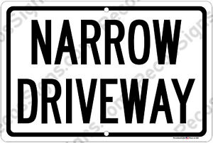 No Parking Keep Driveway Clear Thank You on a 12x8 Aluminum Sign Made in the USA /& UV Protected