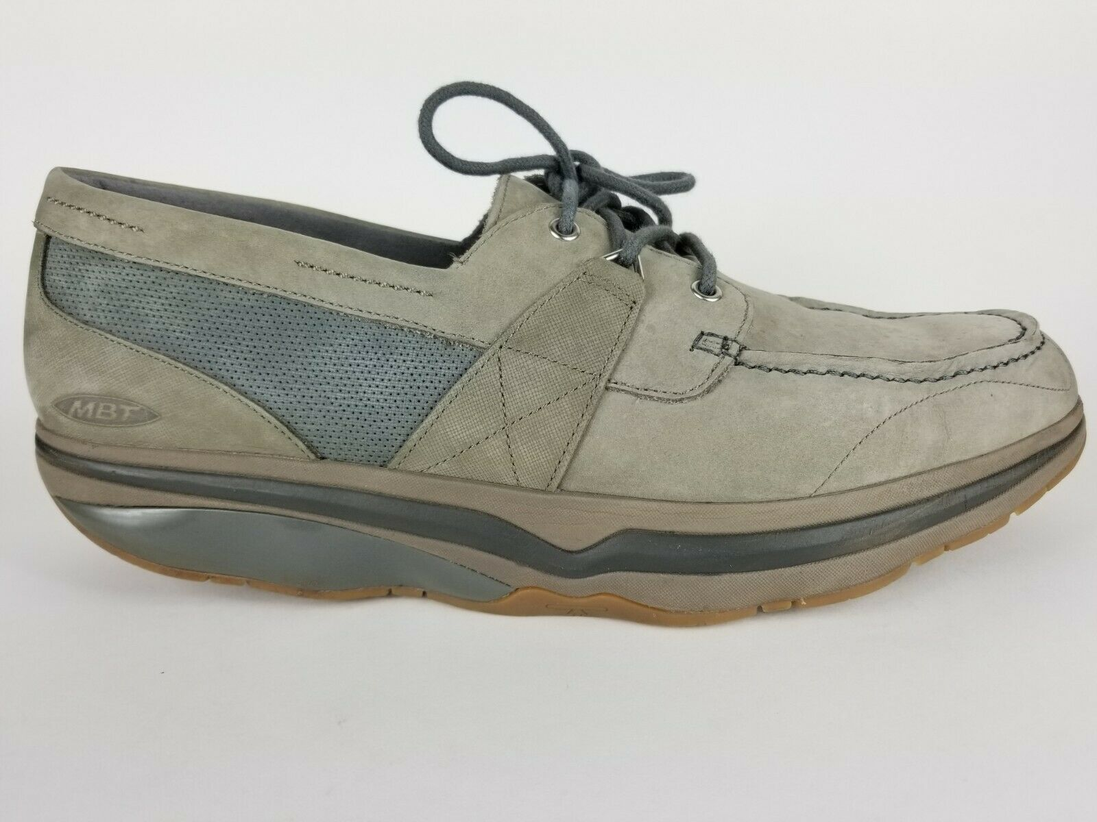 MBT Walking scarpe grigio Leather Leather Leather Dynamic Lace Up Oxford Moc Toe Casual Uomo 12-12.5 a76ee5