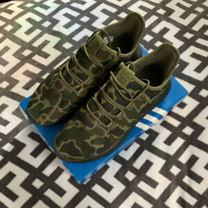 adidas-Originals-Tubular-Shadow-Men-039-s-Running-Shoes-CAMO-green-black