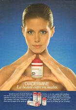 Publicité Advertising 1982   DIADERMINE la beauté entre vos mains