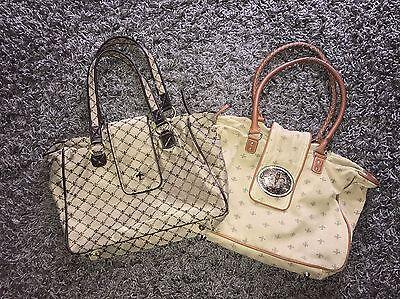 2x Friis & Company Tasche Handtasche Set Schultertasche Braun Beige Nude Sand