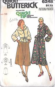 Butterick-Pattern-6248-Dress-Skirt-Top-Skirt-Belt-Sz-10-Uncut-Factory-Folded