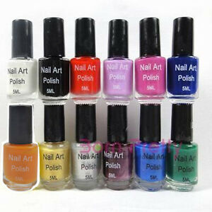 Image Is Loading 12colors 5ml Nail Art Stamp Stamping Polish