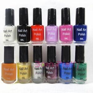 12colors 5ml Nail Art Stamp Stamping Polish Nail Varnish Stamp Nail