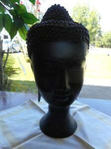 Large Thailand Asian Bronze head of Buddha from estate Lot 29