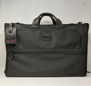 Details About New Tumi Alpha 2 Tri Fold Carry On Garment Bag Black Fxt Nylon 22137d2