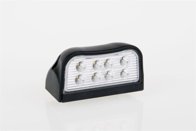 LED KENNZEICHENLEUCHTE NUMMERNSCHILDBELEUCHTUNG - 8 LED 100x55 mm GROß !