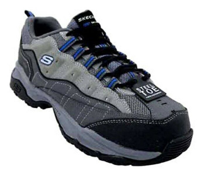 New Skechers Uomo Skechers Canyon Hobby Athletic Steel Toe Work Shoe 76785 sz 7