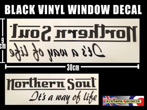 Northern Soul Sticker Decal Reverse Window Sticker 300mm x 90 mm VW Camper ws5