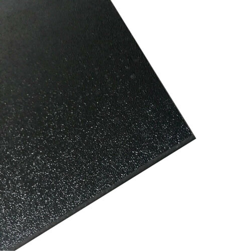 2-Pcs Textured ABS Plastic Plastic Sheet Smooth 12in x 12in x 3//16inch Black