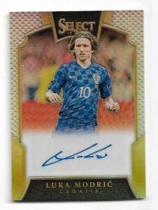 2016-17 Panini Select Soccer Autograph Auto Card :Luka Modric #75/99