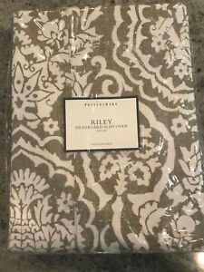 Pottery Barn Riley Full Headboard Slipcover Medici Khaki