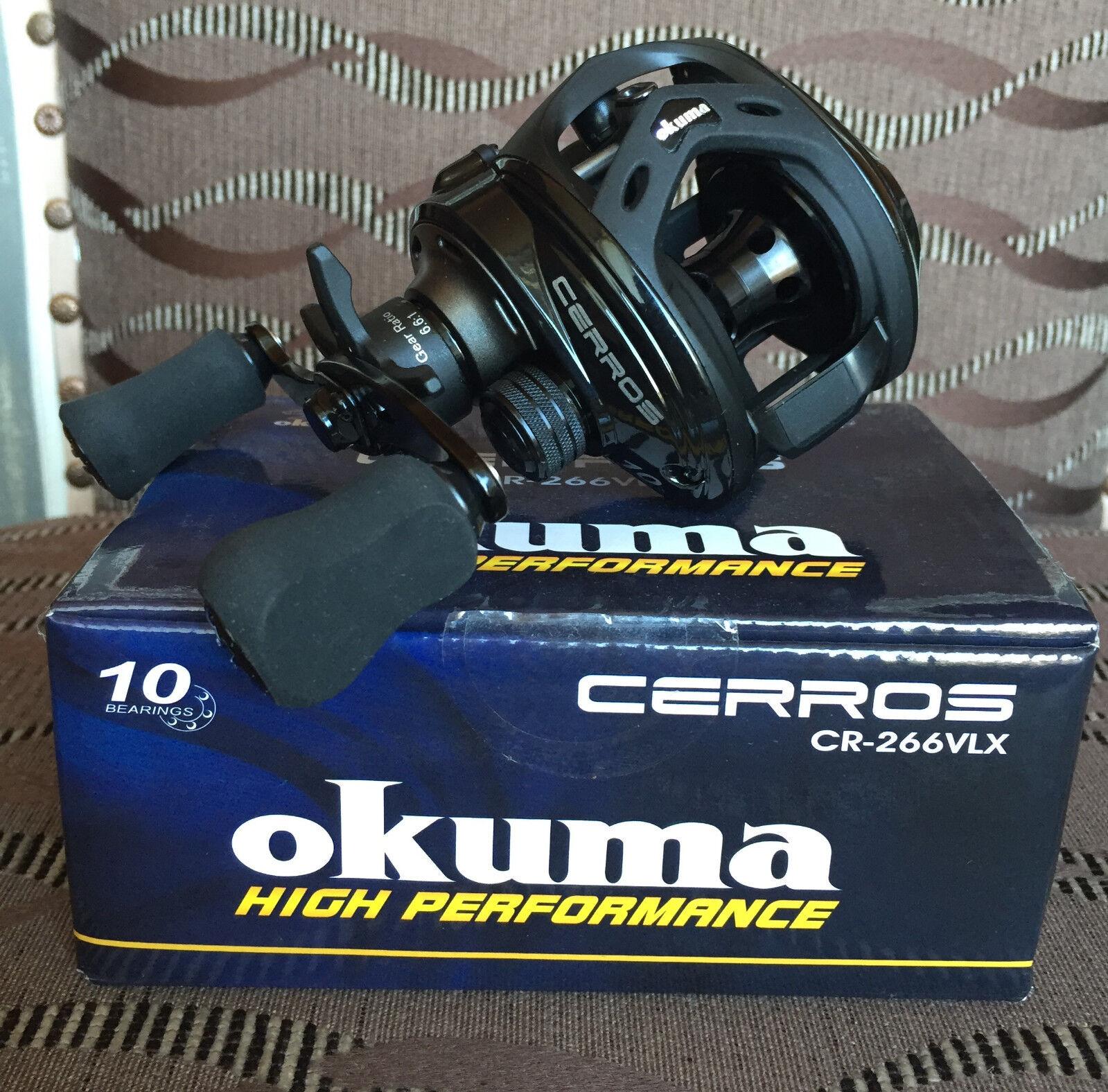 Okuma Cerros Baitcaster CR-266VLX Linkshand Baitcaster Cerros Multirolle zum Spinnfischen e2c696