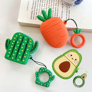 3d Cactus Carrot Silicone Charging Case Airpod Cover For Apple Airpods 1 2 Ebay