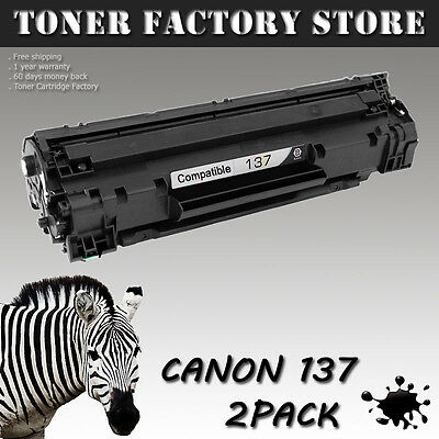 2PK Canon137 137 Toner For Canon ImageClass MF212w MF216n MF227dw MF229dw