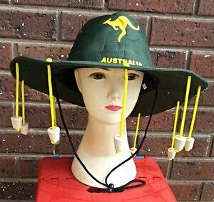 Australian Swagman Swag Hat w Corks Kangaroo Bushman Outdoor Aussie ... 9e5651614a15