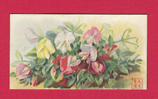AMERICAN  CIGARETTE  CO.  OF  CHINA  -  RARE  FLOWERS  CARD  -  1902
