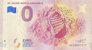 BILLET 0  EURO 50 JAHRE MONDLANDUNG II  ALLEMAGNE  2018  NUMERO DIVERS