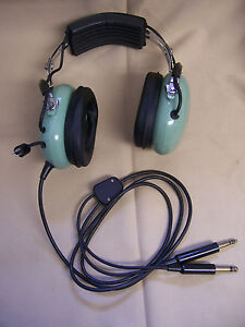 david clark aviation headphones headset w volume knob mic. Black Bedroom Furniture Sets. Home Design Ideas