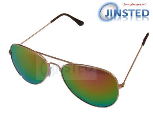 Miroir Lunettes de Soleil de Pilote Réfléchissant Shades Unisexe Sunnies Summer Fashion AA019