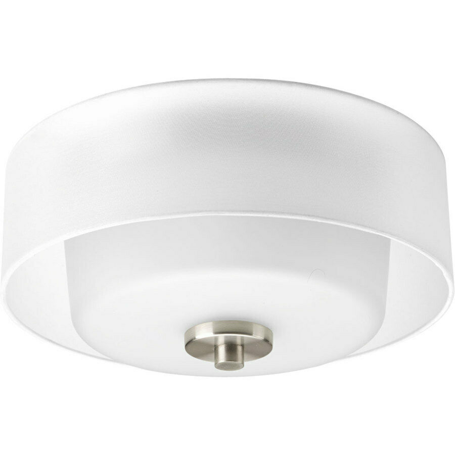 Progress Lighting Invite Collection 2-Light Brushed Nickel Flushmount P3693-09
