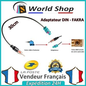 Cable-male-DIN-adaptateur-FAKRA-stereo-antenne-pour-voiture-ford-bmw-volkswagen