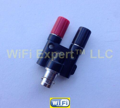 1 x BNC Female plug to Two dual Banana binding female jack connector adapter USA