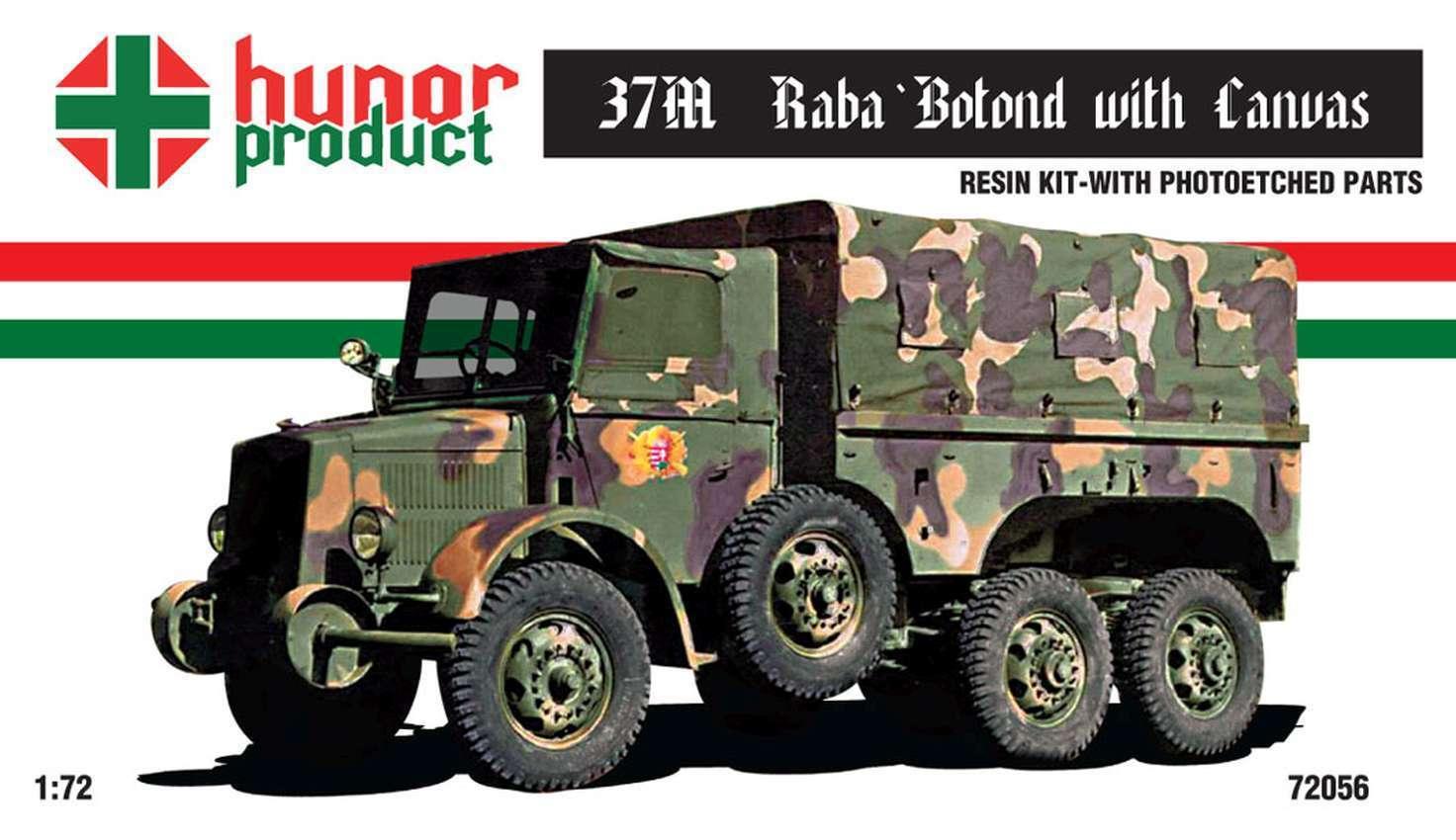 1 72 37M Hungarian Rába Botond w Canvas WWII resin kit w PE parts 72056 Hunor