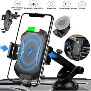qi wireless auto kfz handy halterung halter smartphone induktiv wireless charger ebay. Black Bedroom Furniture Sets. Home Design Ideas