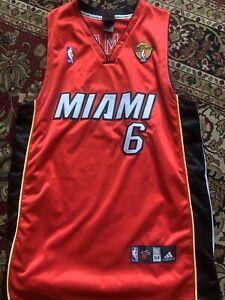 Details about Lebron James Authentic Miami Heat Jersey NBA Finals