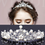 Bridal-Princess-Crystal-Flower-Hair-Tiara-Crown-Rhinestone-Wedding-Prom-Headband thumbnail 6
