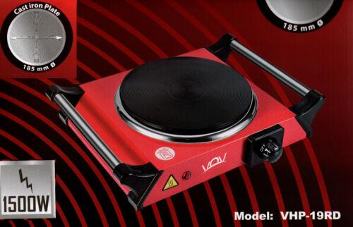Herdplatte Einzelkochplatte Kochplatte NEU/&OVP Design Rot Kochfeld