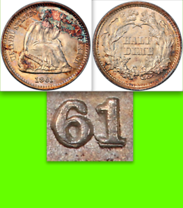 1861-0-PCGS-MS65-039-1-0-039-Overdate-1-560-APR-This-Coin-Seated-Half-Dime-H10c