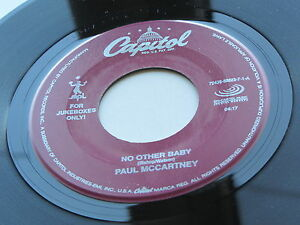PAUL-McCARTNEY-EE-UU-JUKEBOX-Solo-45-No-Other-Baby